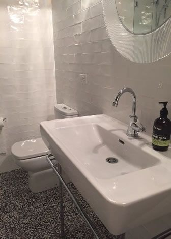 Elegant Spanish Handmade Look Subway Bathroom Tiles Recent Bathroom Project In  Sydney. From Kalafrana Ceramics Sydney