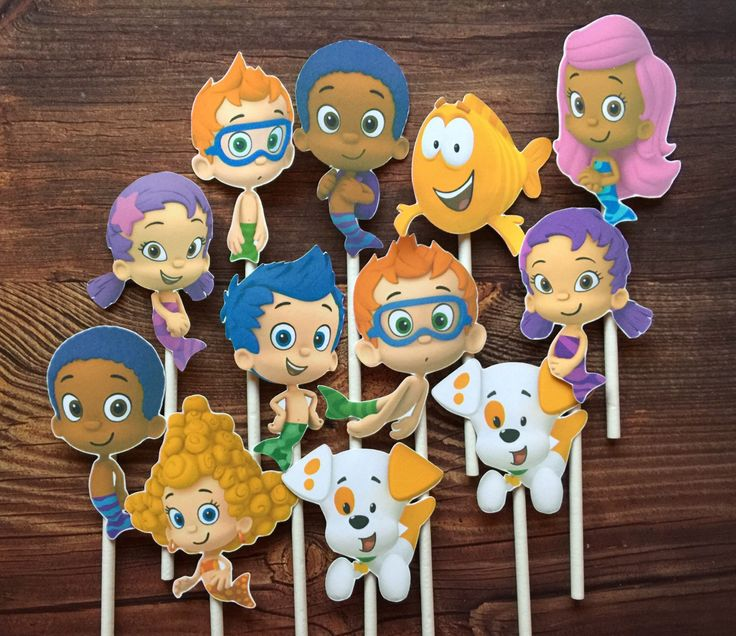 12- BUBBLE GUPPIES Cupcake and Cake Toppers Party Supplies Die Cuts by SoSweetMemories on Etsy https://www.etsy.com/uk/listing/473371472/12-bubble-guppies-cupcake-and-cake