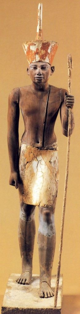 Figure from the mastaba of Imhotep. Under the reign of Sanwosret I.