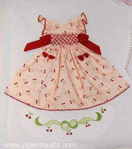 Cherry Smocked Dress Block | by pipersquilts