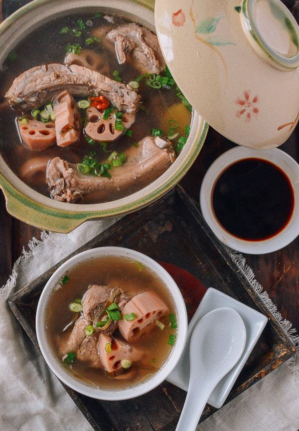 Lotus Root & Pork Soup, by thewoksoflife.com @thewoksoflife