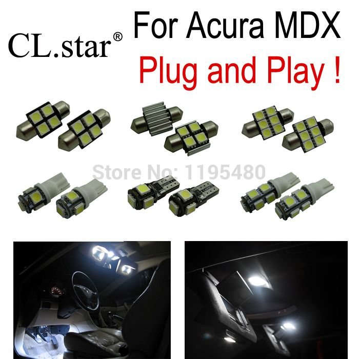 16pc X Super Bright Xenon White LED Bulb Interior