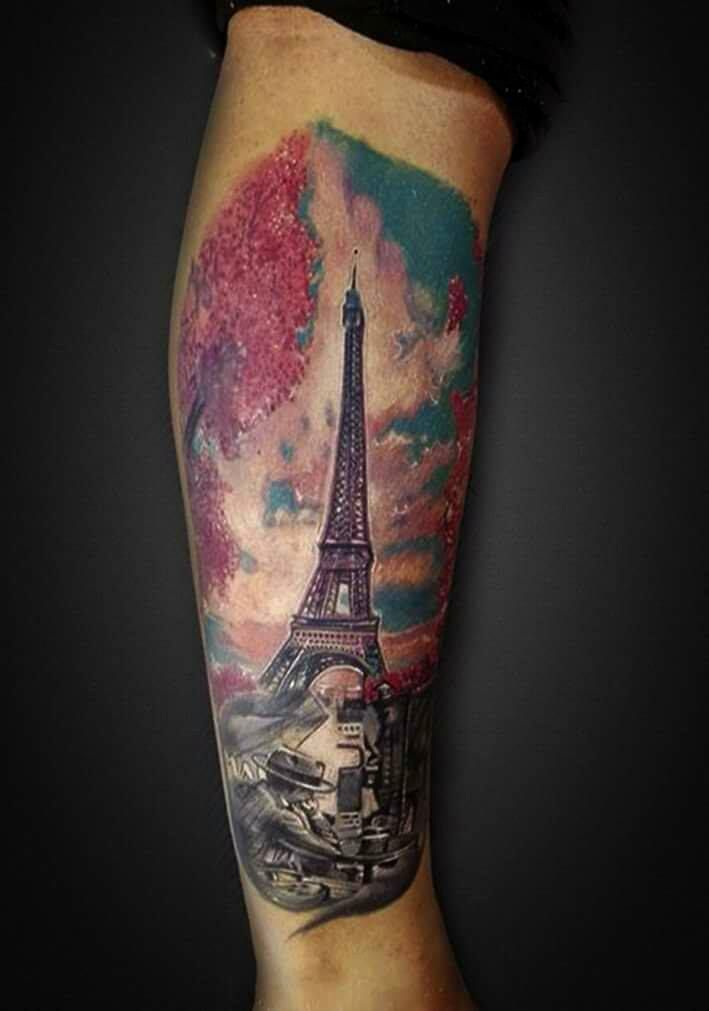 Eiffel Tower Tattoo By Andre At Holy Grail Tattoo Studio Www