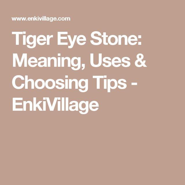 Tiger Eye Stone: Meaning, Uses & Choosing Tips - EnkiVillage