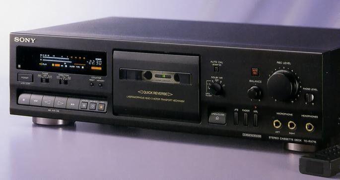 Sony Tc Rx715 1994 Stereo Cassette Decks 2 Pinterest