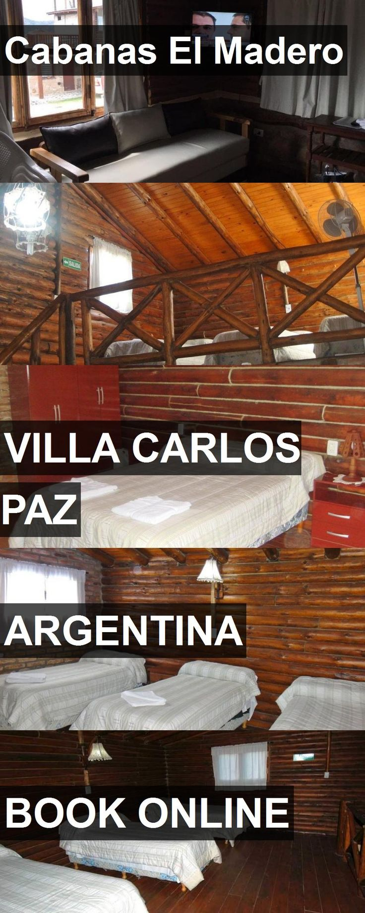 Hotel Cabanas El Madero in Villa Carlos Paz, Argentina. For more information, photos, reviews and best prices please follow the link. #Argentina #VillaCarlosPaz #travel #vacation #hotel