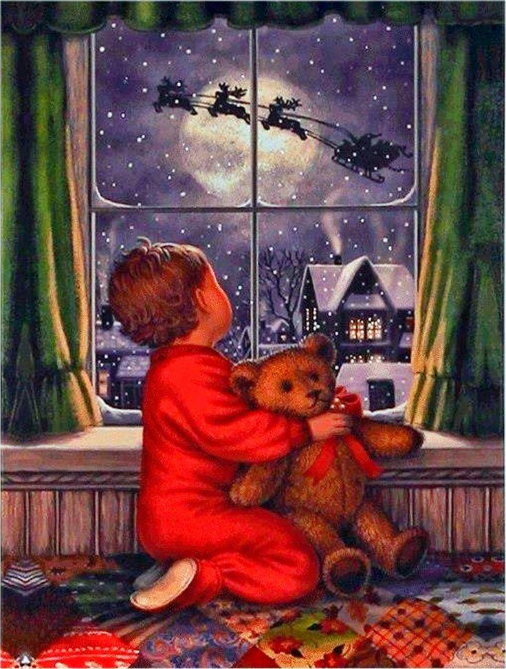 анимационная открытка медвежонок смотрит в окно его можно повязкой