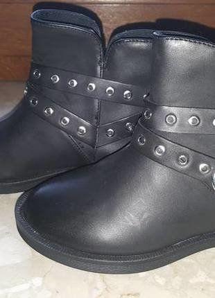 czarne buty botki dziewczęce dla dziewczynki 25 ZARA