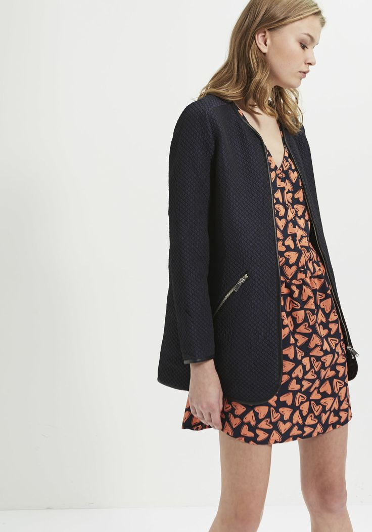 Soldes Manteau bleu femme IKKS | Soldes I.Code Hiver