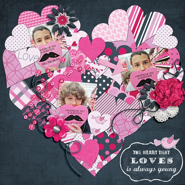 149 best images about valentine scrapbook layouts on