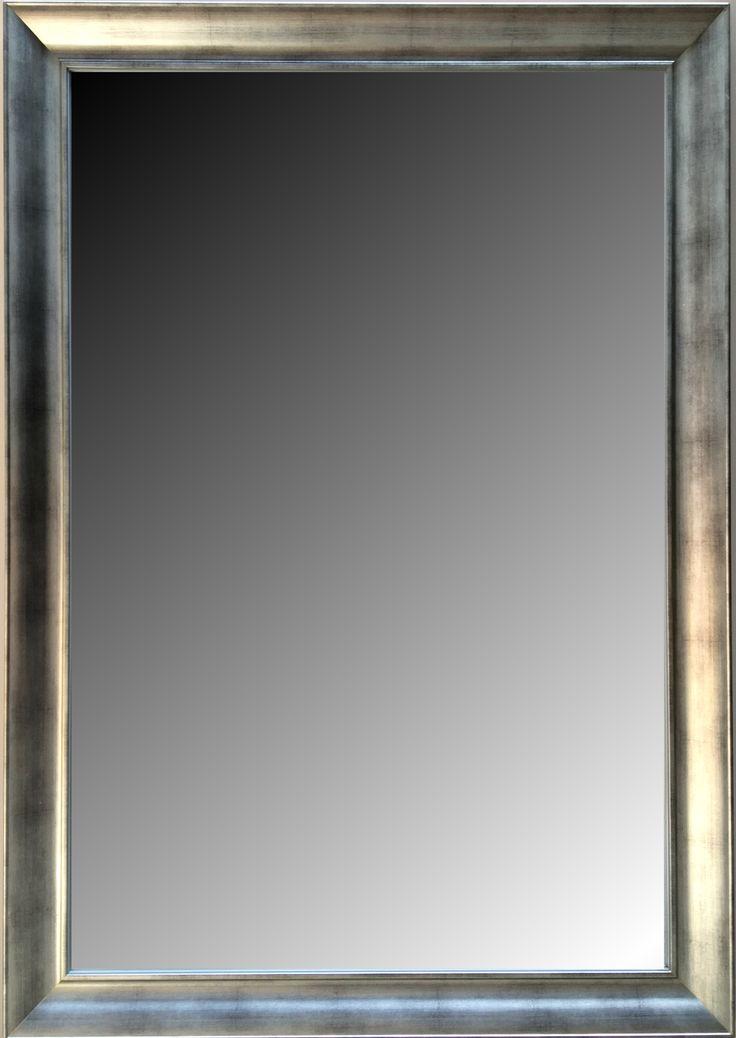 espejo biselado estilo moderno con marco en madera y patinado modelo s medidas