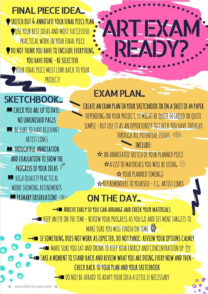 ⏰ Make sure your GCSE and A level art students are ready for the ESA exam - printable handout/poster with reminders of all the key areas for success #ArtGCSE #artteaching #ArtsEd – www.felt-tip-pen.com
