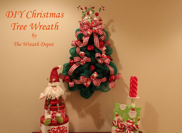 120 best deco mesh trees images on pinterest christmas deco diy christmas mesh wreath tutorial solutioingenieria Gallery