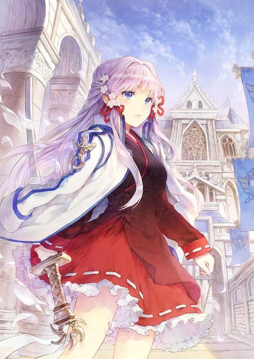 Anime girl with katana anime girl sword tumblr weapon - Anime girl with weapon ...
