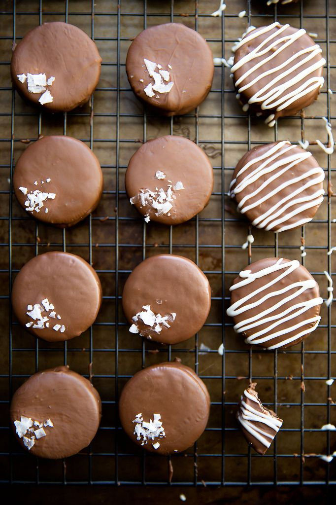 Mint chocolate covered Oreos