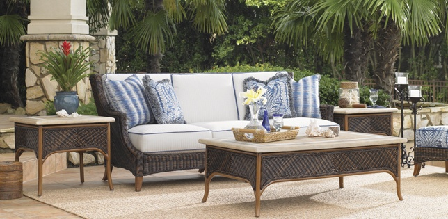 Tommy Bahama Tropical Outdoor Sofa; Customize from 200+ Outdoor Fabrics