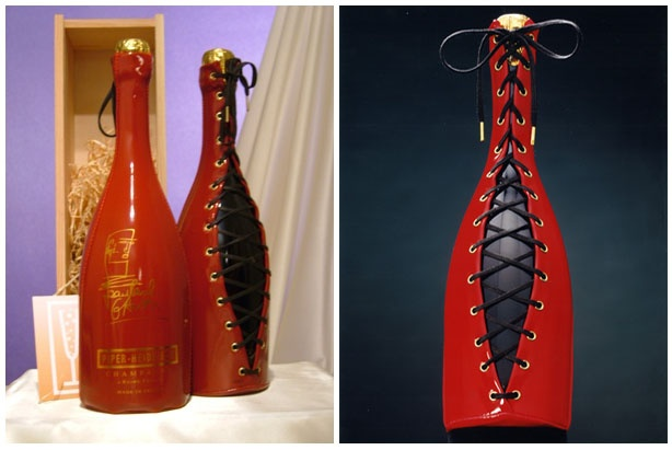 This special limited edition of Jean Paul Gaultier for Piper Heidsieck Champagne is one of my cherished gifts! Love this!
