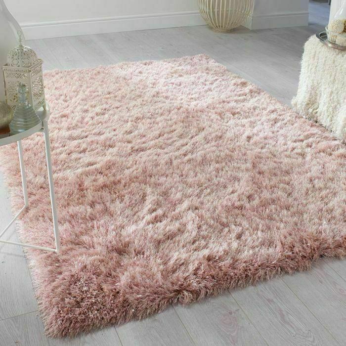 Baby Rosa Dicke Nicht Vergossene Weiche Lange Haufen Dichten Korallen Shaggy Shag Teppichboden Teppich Altrosa Schlafzimmer Teppich Rosa Rosa Wohnzimmer