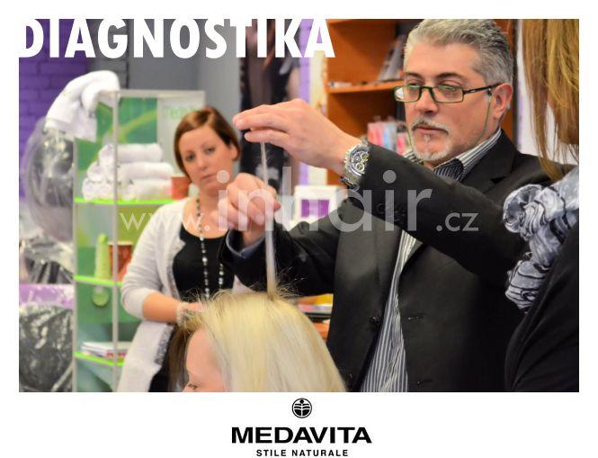 Photo shot MedaVita Ostrava: Školení rituálů pro vaše vlasy