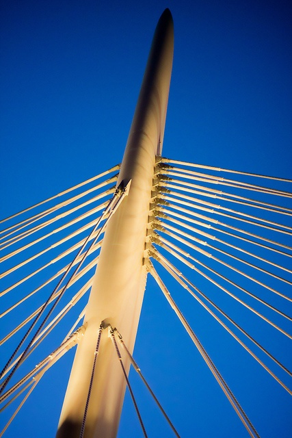 Tip of the Esplanade Riel bridge  Winnipeg, MB by AJ Batac, via Flickr