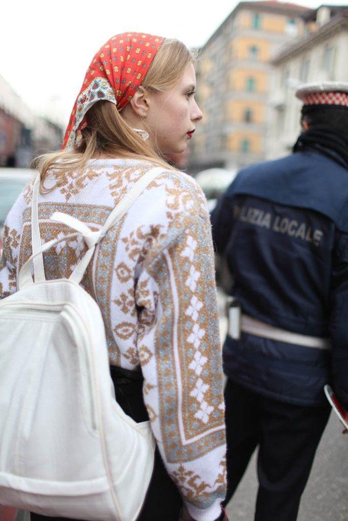 Milan Fashion Week street style FW 2014 #Marie Myrhøj Jensen