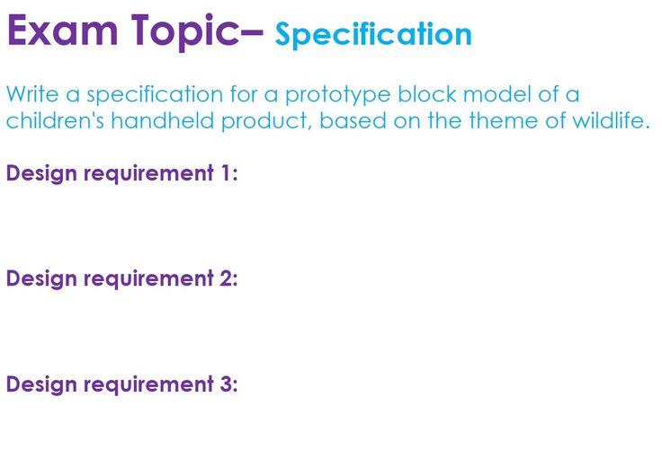 specificication