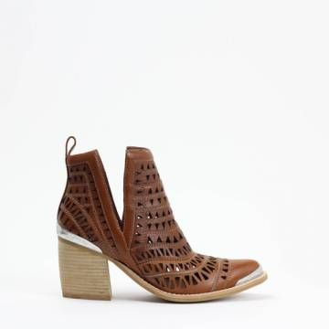 JEFFREY CAMPBELL SAMBROSA  Tan Leather Ankle boots