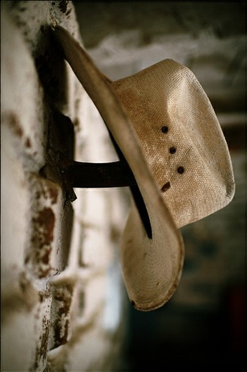 a nicely worn cowboy hat ~ perfection