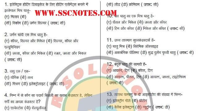 650 General Science MCQ for RRB ALP Exam PDF Download | RRB