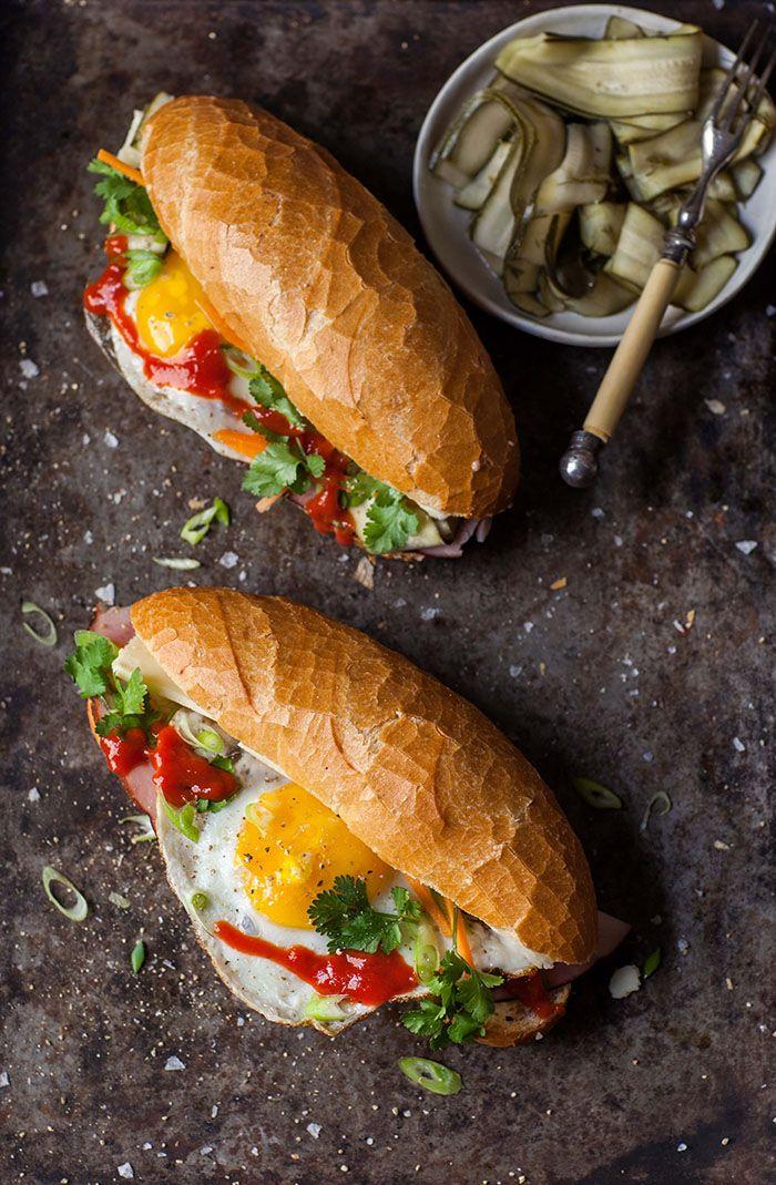 Un sandwich pour petit dej, avec une inspiration Banh Mi