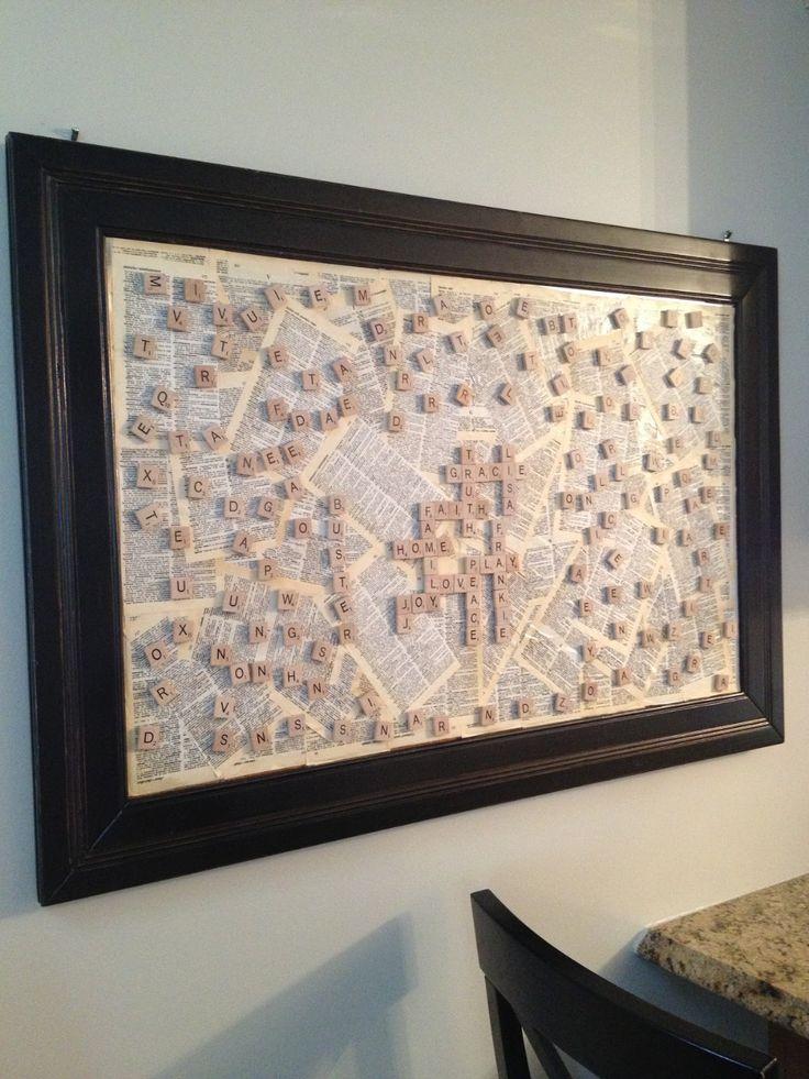 scrabble message board in 2020 Scrabble tile crafts
