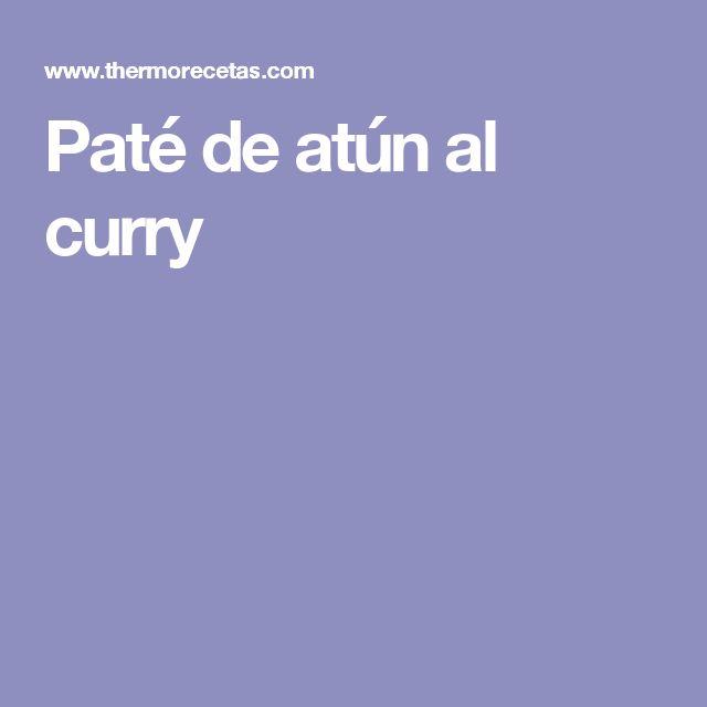 Paté de atún al curry
