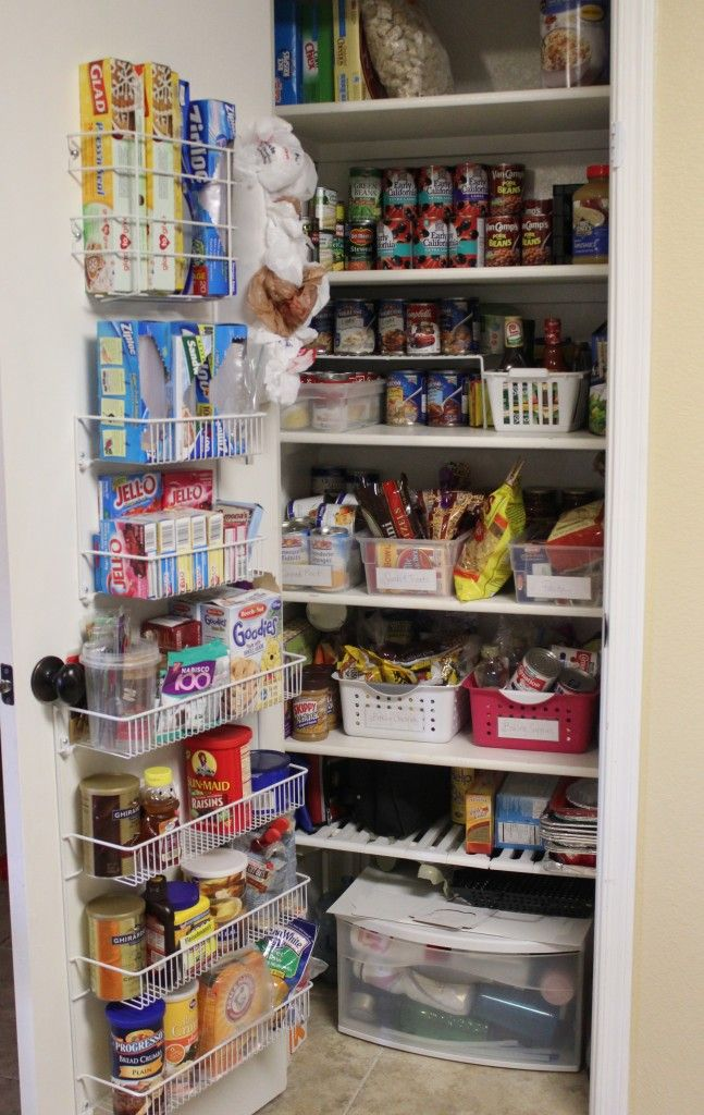 Use the inside of your pantry door for extra storage!