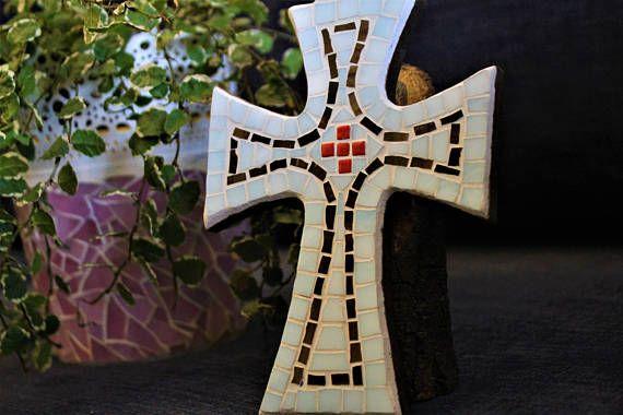 Baptism mosaic cross Teen wall decor Confirmation Gift