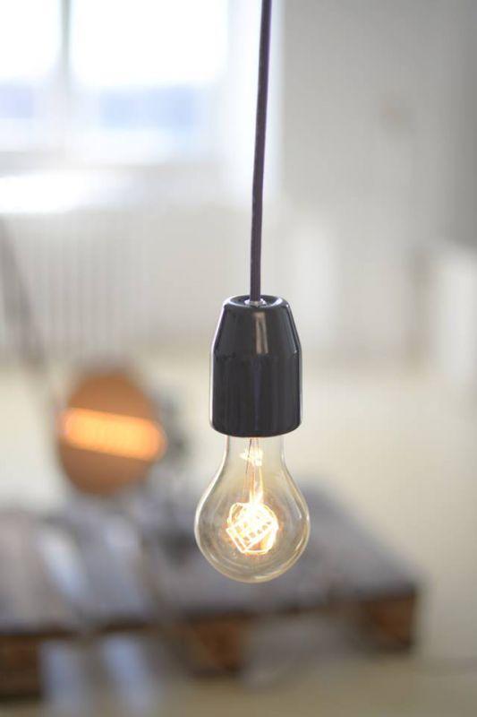 Körte alakú Edison stílusú izzó tilka minimál lámpával