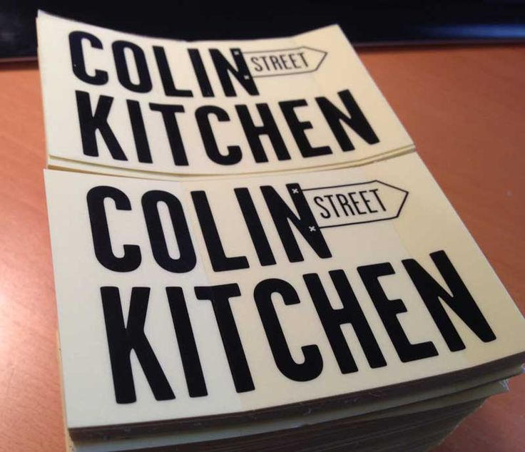 Colin Street Kitchen stickers in Clear stickers material, So simple with nice details on it! Nice one!