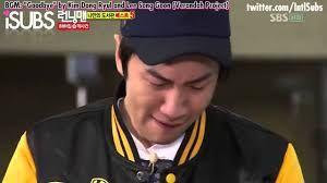 Awww..... Kwang Soo must be feeling sad to leave Joong Ki. Especially hi best friend! Running man on Kshow.online.....