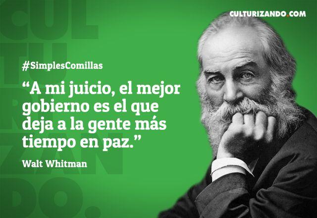 10 grandes frases de Walt Whitman - culturizando.com   Alimenta tu Mente