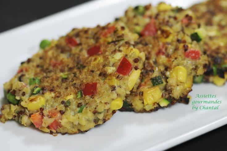 Galette de quinoa aux petits légumes