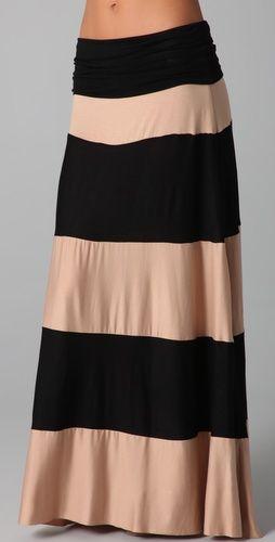Striped maxi skirt Minis, Women Dresses, Karina Grimaldi, Dresses Up, Stripes Maxis Skirts, Long Skirts, Maxis Dresses, Diy Women, Maxi Skirts