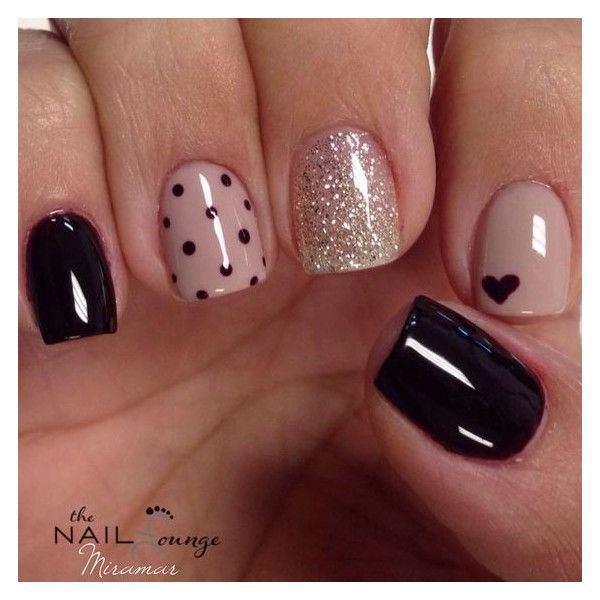 15 Nail Design Ideas That Are Actually Easy ❤ liked on Polyvore featuring beauty products, nail care and nail treatments