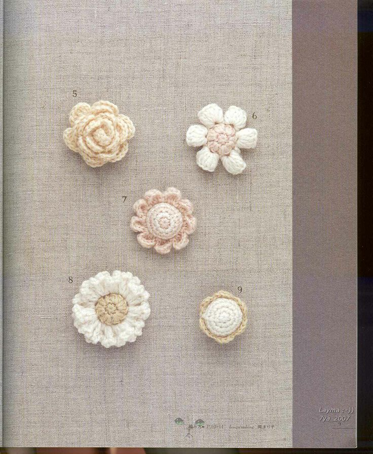 Japanese Crochet; Tiny Flowers Plate 8 (See diagram Plate 8 a and Plate 8 b for patterns)