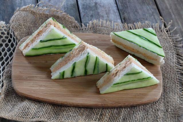 Mini Sandwich club concombre et saumon - Diaporama 750 grammes