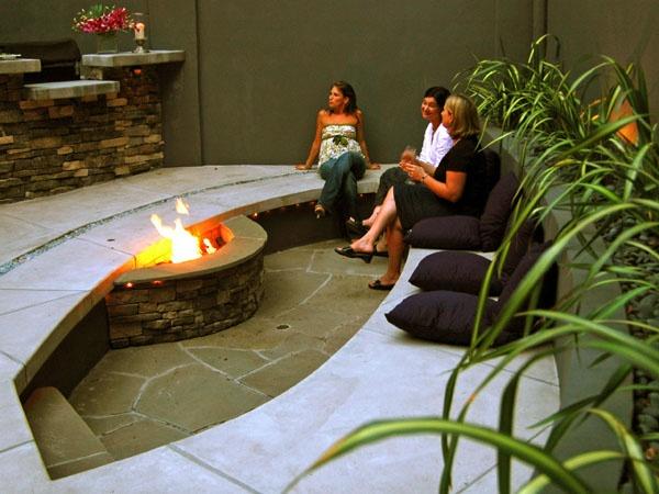 1000 ideas about sunken patio on pinterest patio for Sunken seating area outside
