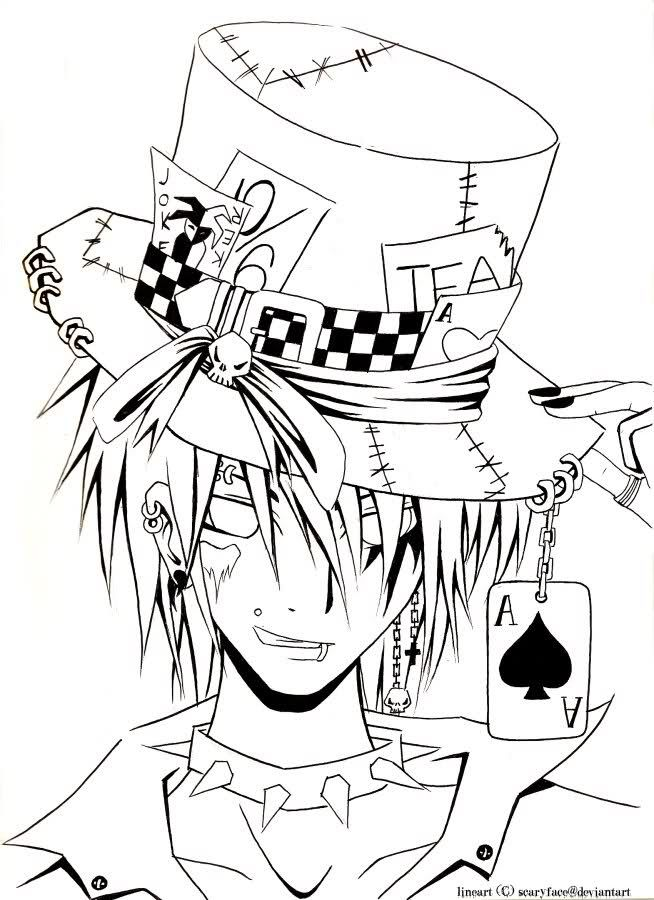 Original Mad Hatter Drawing