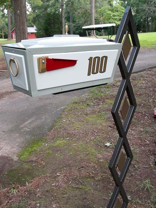 make your own midcentury modern mailbox and post