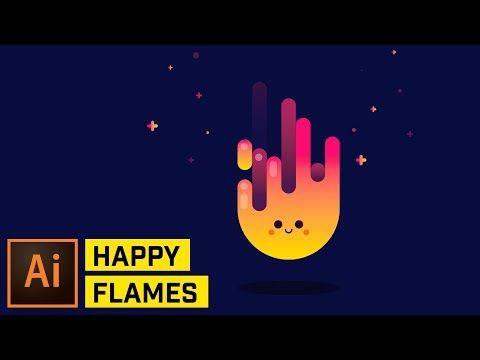 Happy Fire Artwork - Adobe Illustrator Tutorial - YouTube