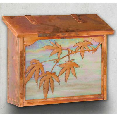 America's Finest Mailboxes Japanese Maple Wall Mount Mailbox