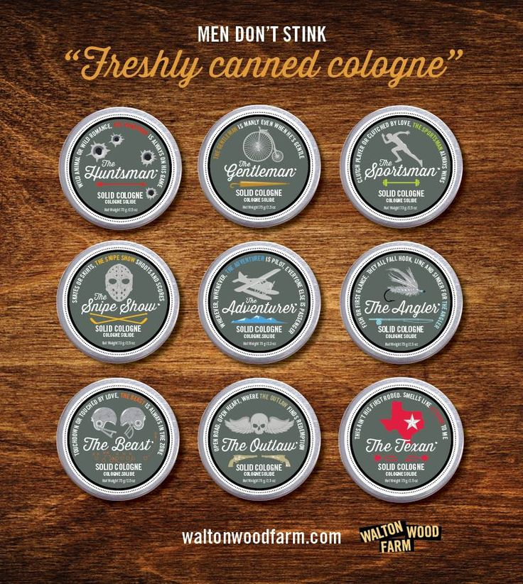 """Men's solid cologne: unique gifts for men. Our fragrances are clean, fresh and moisturizing, too. Go forth in the world with the confidence you will never """"stink"""" people out of the elevator! #MenDontStink #WaltonWoodFarm #SolidCologne #MensGifts"""