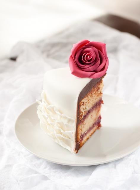 Raspberry White Chocolate Ganache Cake Filling
